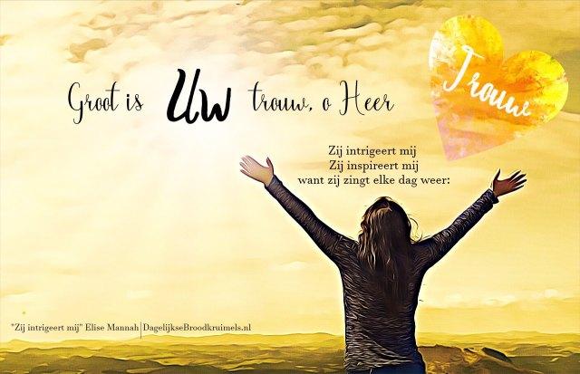 Groot is Uw trouw, o Heer